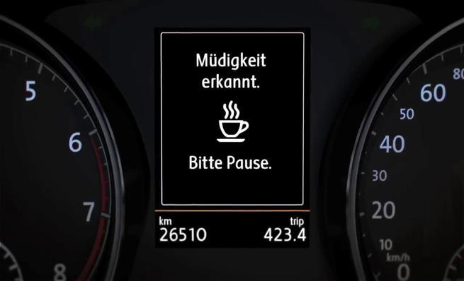 Tecnología Volkswagen - Detector de fatiga