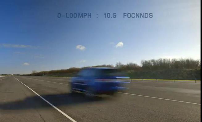Range Rover Sport SVR, aceleración