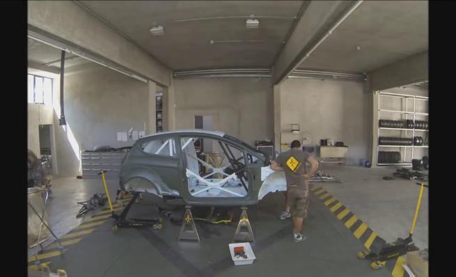Time Lapse del montaje del Ford Fiesta R5 de Lorenzo Bertelli