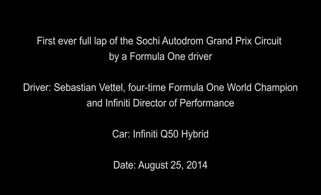 Sebastian Vettel en el circuito de Sochi con el Infiniti Q50