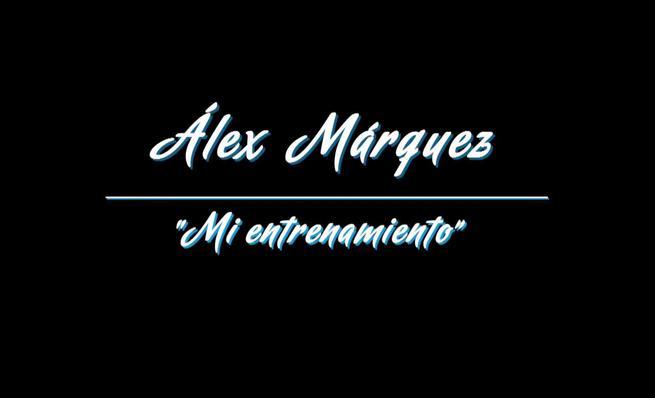 Alex Márquez enseña a sus fans un día de entrenamiento