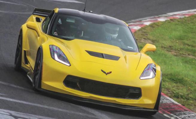 Chevrolet Corvette Z06 rugiendo en Nürburgring