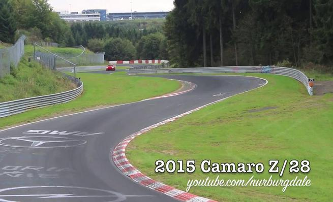 Chevrolet Camaro Z28 rodando en Nürburgring