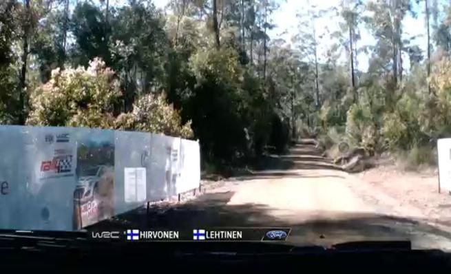 On board Mikko Hirvonen - SS16 Rally de Australia 2014