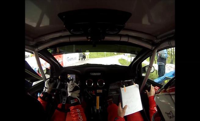 Daniel Peña en el 35 Rally de Santander