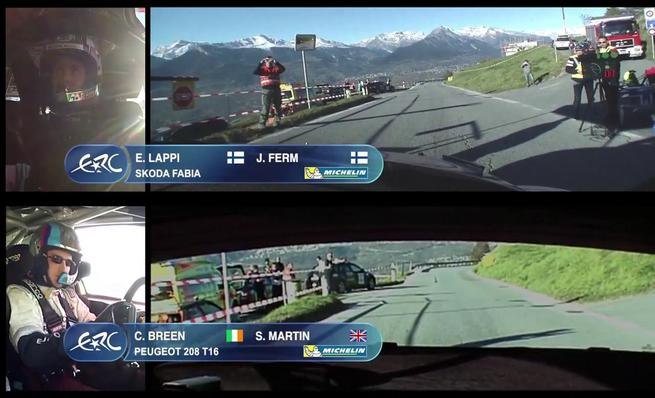On Board Lappi vs Breen - SS10 Rally du Valais 2014