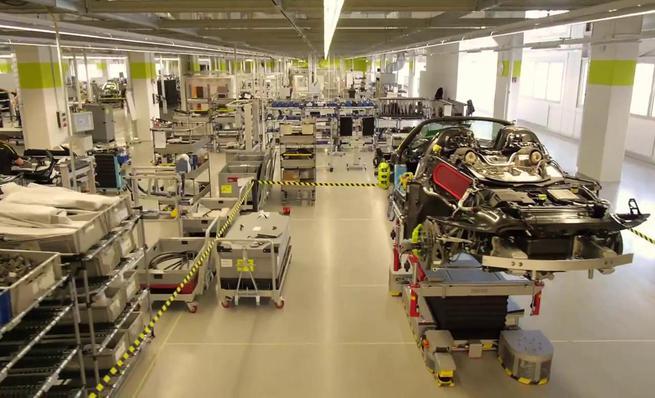 Planta de fabricación del Porsche 918 Spyder