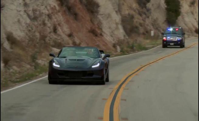 Jay Leno a los mandos del Chevy Corvette Z06