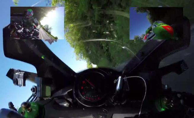 Vídeo on board Kawasaki H2R en el TT de la isla de Man