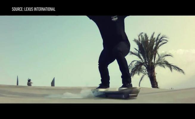 Pruebas del Hoverboard en Barcelona.