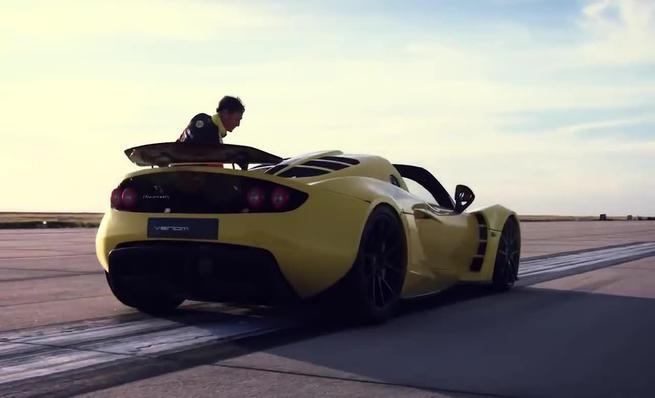 Hennessey Venom GT world speed record teaser