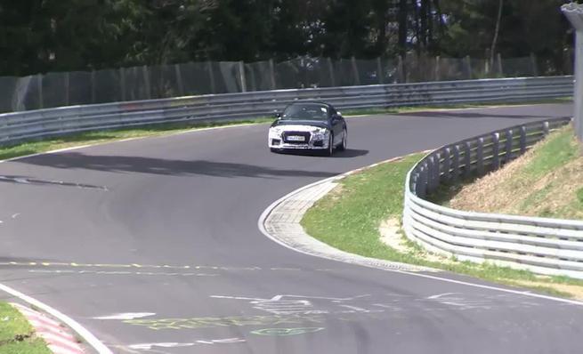 Prototipo de pruebas del Audi TT RS 2016 en Nürburgring