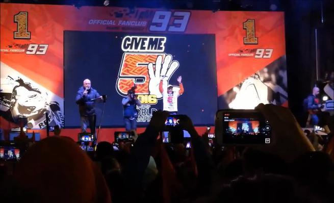 Vídeo celebración Marc Márquez en Cervera 2016
