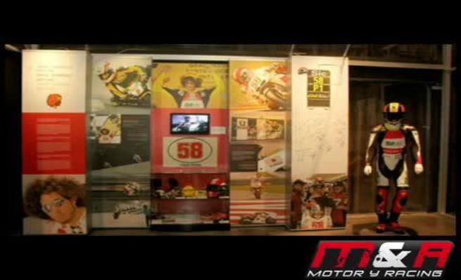 Exposición de Marco Simoncelli en el Museo Olímpico de Barcelona